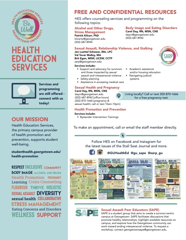 Health Education Services infographic.